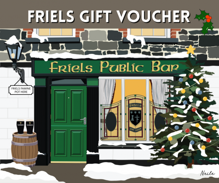 Christmas Illustration of Friels
