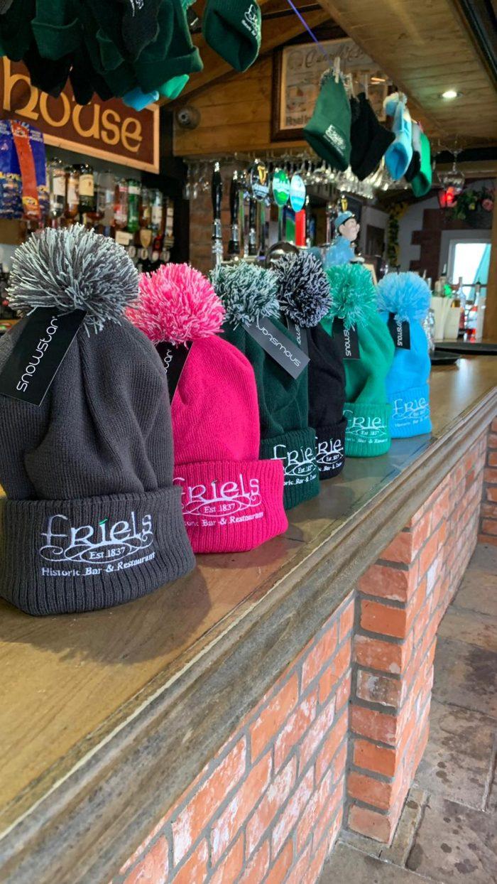 Bobble Hats on the Bar