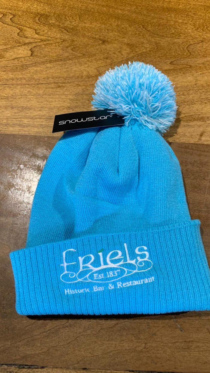 Friels Blue Bobble Hat